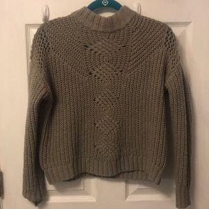 "Mock Turtleneck ""Crop"" Sweater"